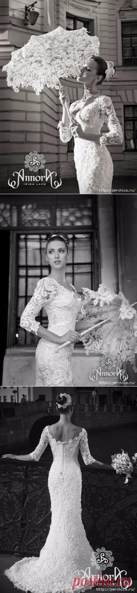 Шикарное платье *Quin* ирландское кружево (Annora) - схемы и мастер-классы