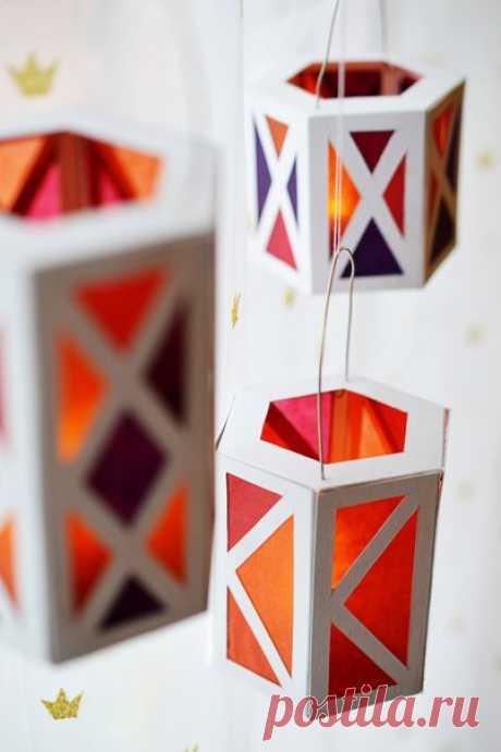 Фонарики из бумаги своими руками — Сделай сам, идеи для творчества - DIY Ideas