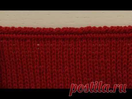 Обработка края вязаного изделия. Горловина, рукава, низ