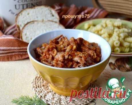 Мясной соус-рагу из кролика - кулинарный рецепт