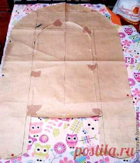 Мастер-класс : Шьем гнездышко-кокон для новорожденного   Журнал Ярмарки Мастеров