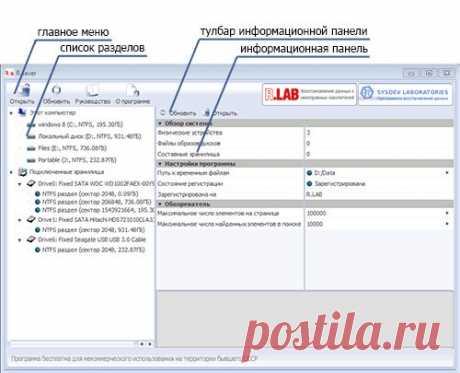 R.saver – бесплатная программа для восстановления данных - R.LAB