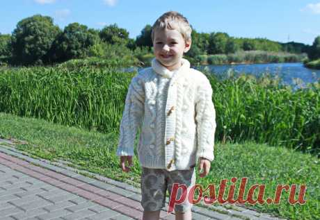 Детский жакет молочного цвета | Svetlana Loseva Вязание | Яндекс Дзен