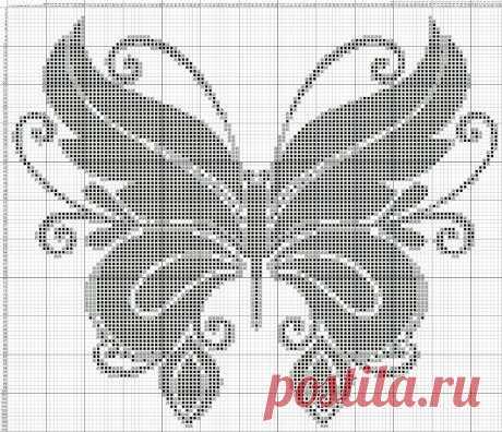 Оригинальные схемы для филейного вязания — HandMade