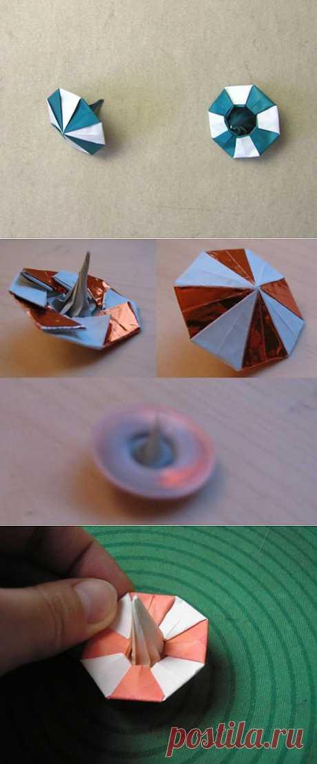 Оригами юла. Видео МК