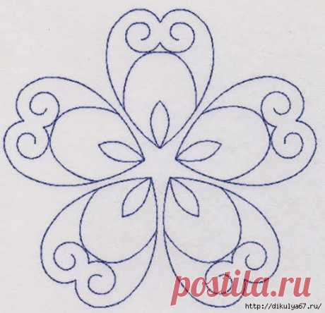 Patterns for an embroidery