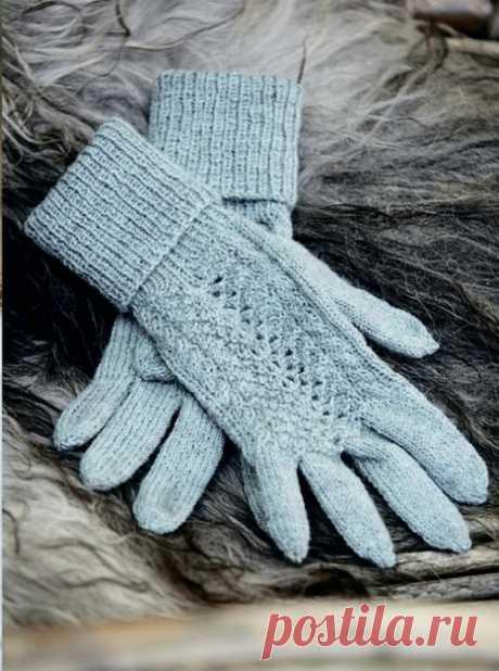 Красивые вязаные перчатки