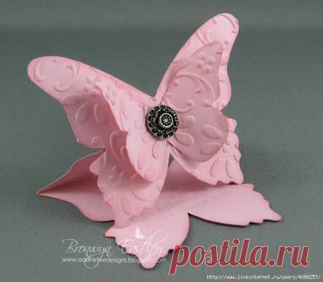 Объёмная открытка - бабочка — Сделай сам, идеи для творчества - DIY Ideas