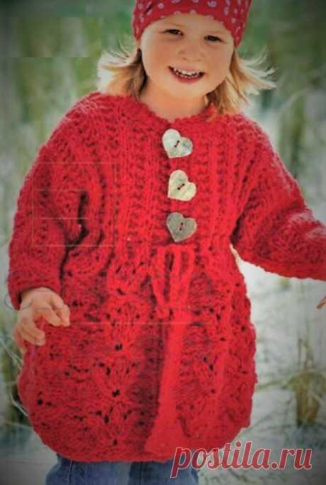 Красивое ажурное пальто для маленькой девочки | Идеи рукоделия | Яндекс Дзен
