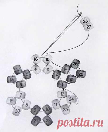 бисероплетение колье и ожерелья схемы жгут: 18 тыс изображений найдено в Яндекс.Картинках