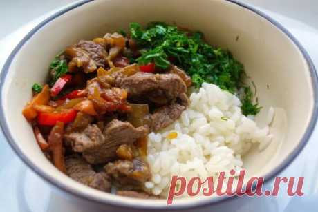 Мясо с овощами на азиатский мотив: Все уже готово, пока варится рис — Бабушкины секреты