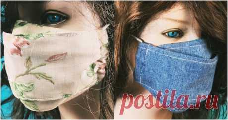 Защитись от вирусов - сшей многоразовую маску! Это просто! ...