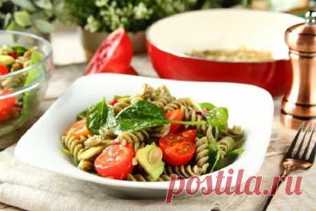 Салат с макаронами и помидорами – пошаговый рецепт с фото.