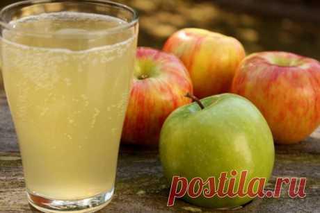 Как приготовить полезный для здоровья яблочный квас