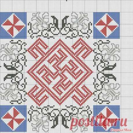 Схемы вышивки крестом славянских оберегов.