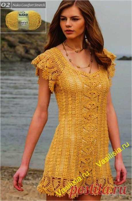 Ажурное платье крючком | Vasilisia.ru