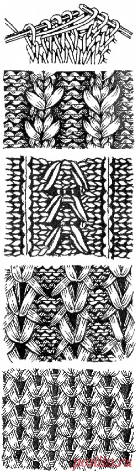 Урок 15. Вязание образцов со снятыми и вытянутыми петлями. Узоры.
