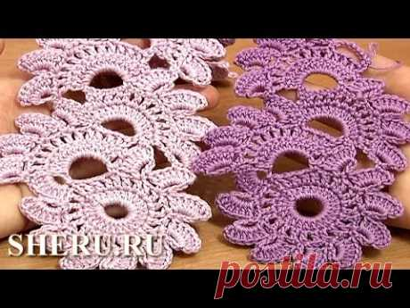 Beautiful Crochet Lace Patterns the Lesson 12 Knitting of a Tape in equipment of tape lace