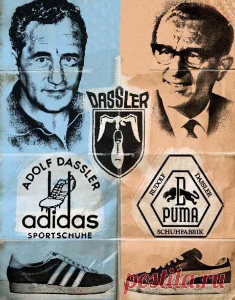 Как раздор между братьями привел к созданию культовых спортивных брендов «Adidas» и «Puma»