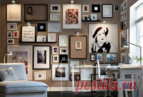 Большие фото на стену. Как развесить фото на стене