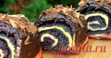 Пышные булочки с маком и вишней: невесомое мягкое тесто и изобилие начинки. Вот чем нужно себя радовать. - Советы и Рецепты