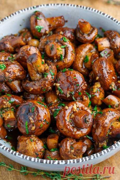 Бальзамический соус Жареный чесночный гриб Рецепт приготовления блюд в шкафу