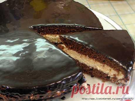 Ностальгия -торт с кремом из манки