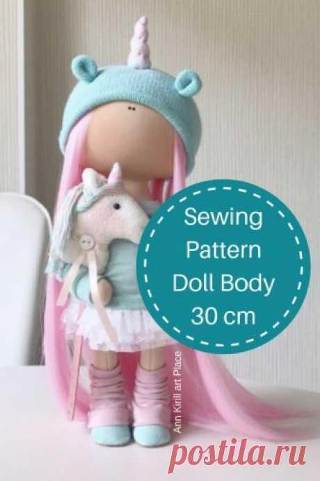 Sewing Pattern Doll Body 30 cm 11 Tilda Doll Tutorial | Etsy