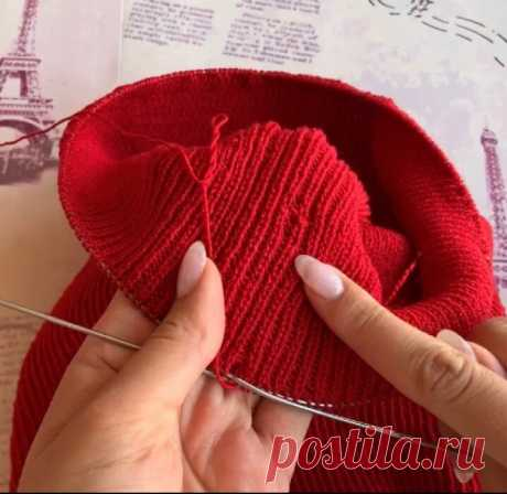 Как исправить ошибку посреди вязаного полотна | Вязание спицами | Вязание с Аленой Липницкой | Яндекс Дзен