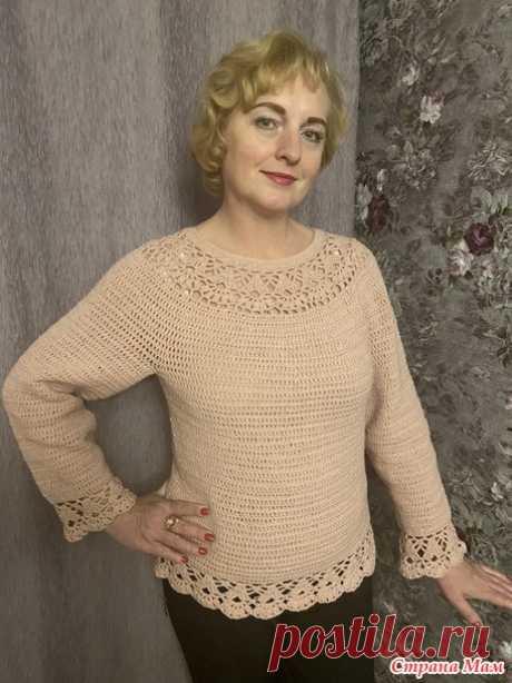 """Пуловер """"Лилии"""" - Вязание - Страна Мам"""