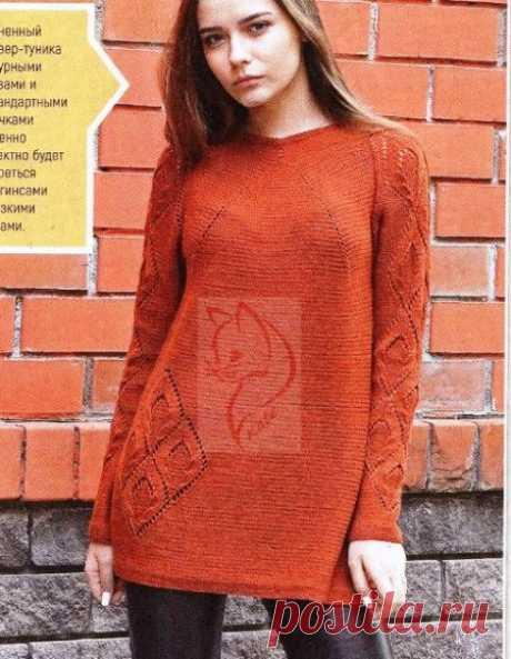 Вязание пуловера регланом сверху вниз