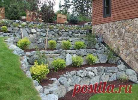 Камни на даче: 4 идеи украшения участка камнями (габионы, спираль, склоны, шикарная садовая дорожка) | Декорочка | Яндекс Дзен