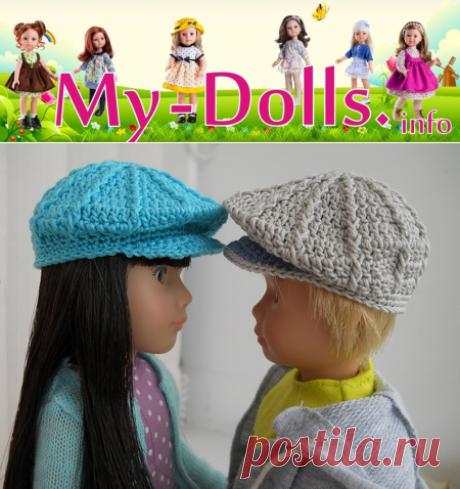 Кепка с козырьком для куклы Крузелингс, связанная крючком. Мастер-класс от Ольги Портновой