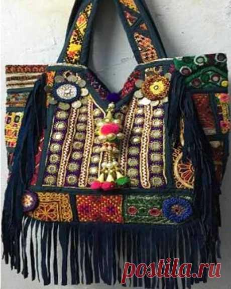 Простая выкройка красивой сумки