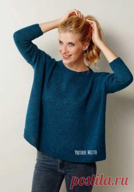 Пуловер-оверсайз спицами