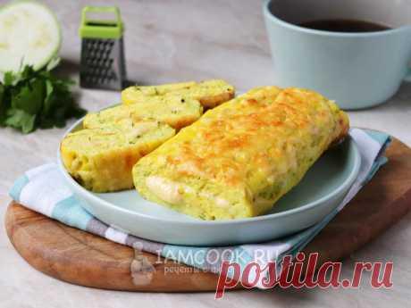 Рулет из кабачков с сыром в духовке — рецепт с фото