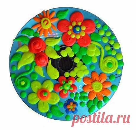 диск с цветами 2