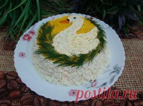 """Салат """"Белый лебедь"""" готовлю на праздничный стол, вкусно и дёшево получается (делюсь рецептом)   Всё по домашнему   Яндекс Дзен"""