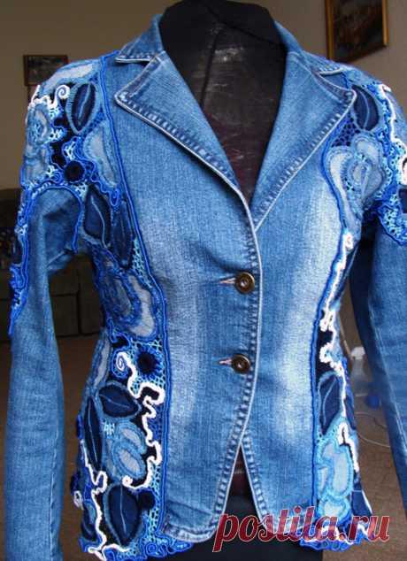 Jeans jacket from Natalya Zhilenkova