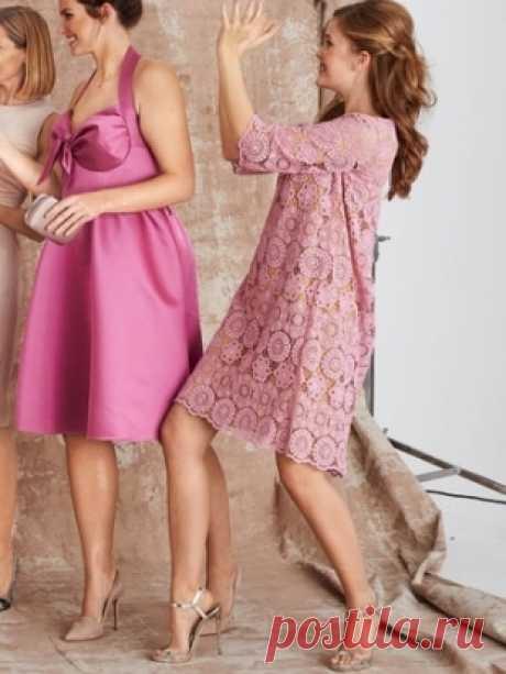 Платье а-силуэта - выкройка № 107 из журнала 3/2016 Burda – выкройки платьев на Burdastyle.ru