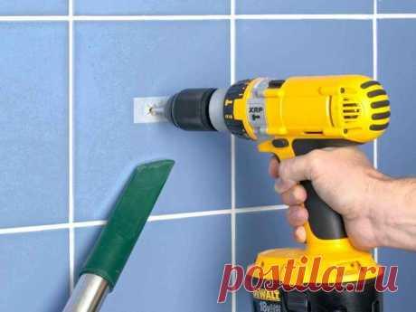 Как просверлить стену, если на ней есть плитка — Строительство и отделка — полезные советы от специалистов