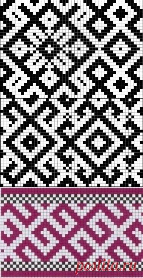 Схемы для браного ткачества на бердо.   Журнал Ярмарки Мастеров