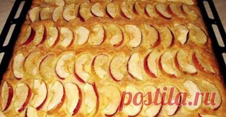 Нежный пирог с яблоками за 20 минут. Мой дежурный рецепт на все случаи жизни!