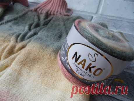 Обзор пряжи  Nako Angora Luks Color