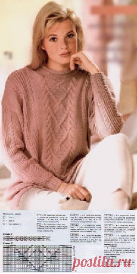 Пуловер с узорами. | Пуловер, свитер, жакет. Пуловер с узорами.