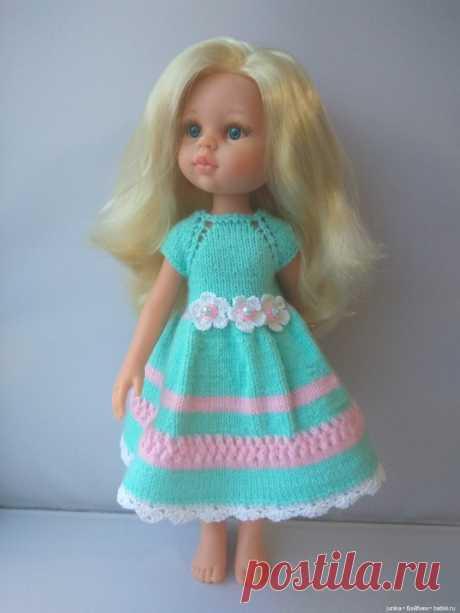 """МК """"Цветочное платье для Паолок"""" спицами / Вязание для кукол / Бэйбики. Куклы фото. Одежда для кукол"""