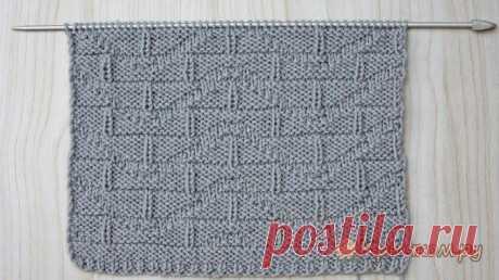 Узор для мужского пуловера спицами (видео МК)