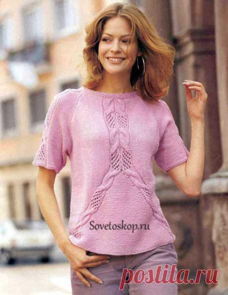 Женский пуловер реглан. из категории Интересные идеи – Вязаные идеи, идеи для вязания