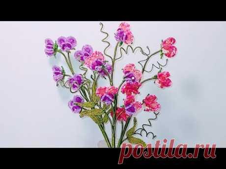 из бисера МК от Koshka2015 - цветы из бисера,  бисероплетение Beaded flowers DIY