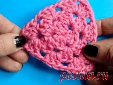 La labor de punto por el gancho - la Lección 215 Triángulo Crochet Triangle